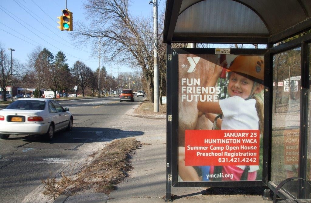 Bus Shelter Advertising - YMCA