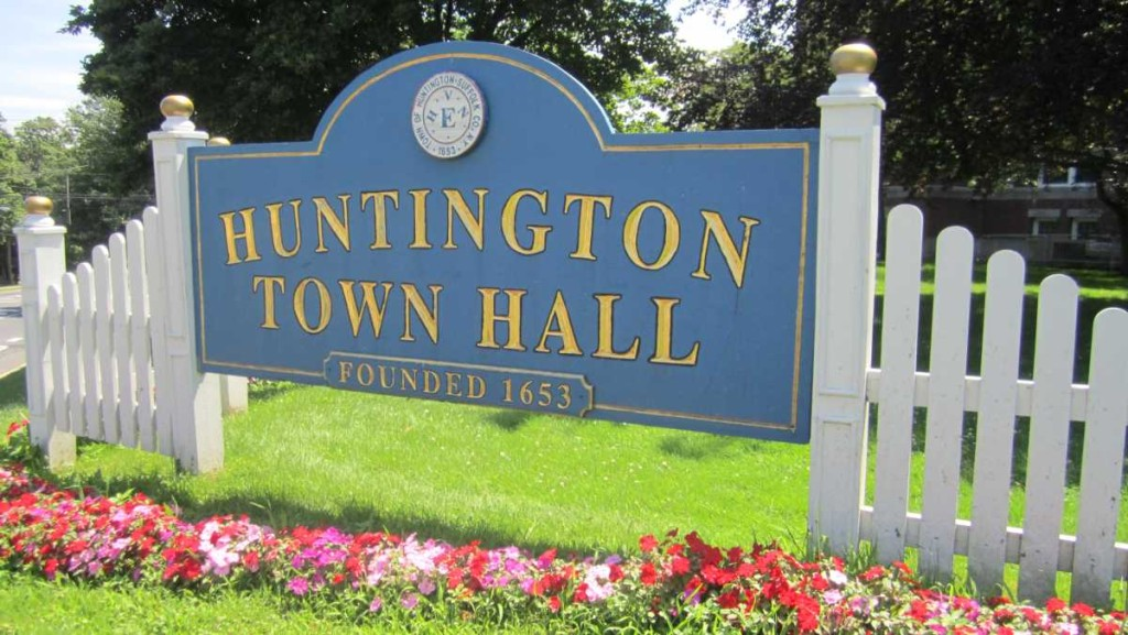 Huntington Hall Town Sign
